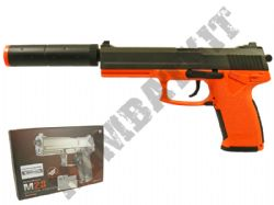 M23 Airsoft BB Gun Black and Orange